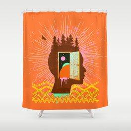THOUGHT FREQUENCY Shower Curtain