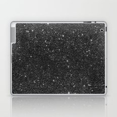 Modern chic elegant trendy faux black glitter Laptop & iPad Skin
