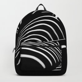 0758-AR BW Abstract Art Nude Striped Backpack