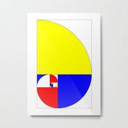 Mondrian in a Fibo-Style Metal Print