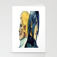 sasuke Stationery Cards featuring Naruto & Sasuke  by Aileen