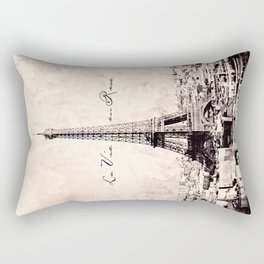 la Vie en Rose vintage Rectangular Pillow