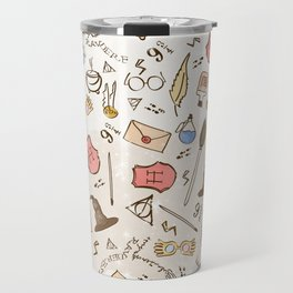 Wizarding Pattern Travel Mug