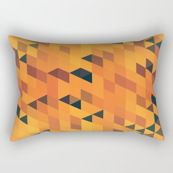 Gold Pattern Rectangular Pillow