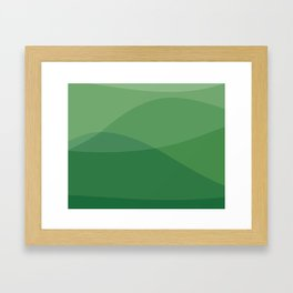 Waves: Forest Bathing Framed Art Print