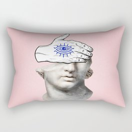 FACE of the YOUTH / Marble statue head Rectangular Pillow