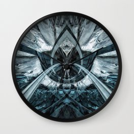 Geometric Art - FREEZE Wall Clock