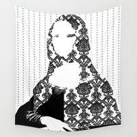 mona lisa Wall Tapestries featuring Mona Lisa SW x4 by Marko Köppe