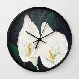 Calla Lily ... Winter Lilly Lily Lilies Lillies White Wall Clock