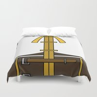 magical girl Duvet Covers featuring Mami Tomoe Magical Girl Dress by Bunny Frost