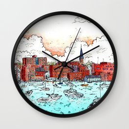 Portland, Maine Harbor Wall Clock