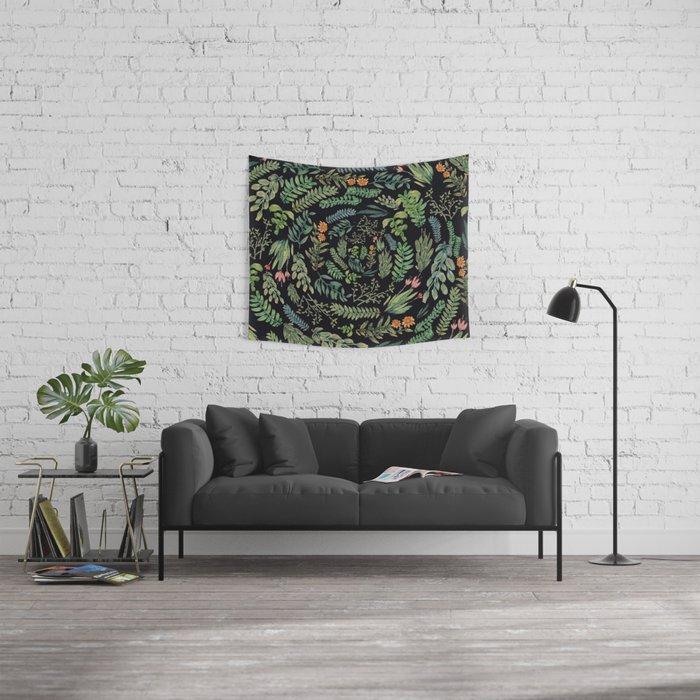 circular garden at nigth Wall Tapestry