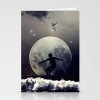 surfer Stationery Cards featuring Surfer by Monika Strigel
