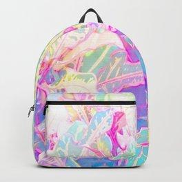 Tropical croton leaves 1/2 Backpack