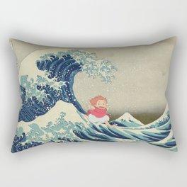 Ponyo and the Great Wave Rectangular Pillow