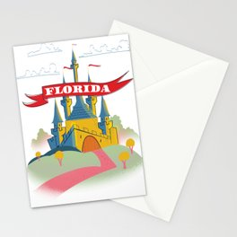 Florida Magical old castle. Stationery Cards