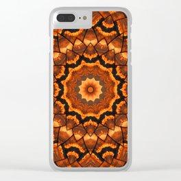 Africa sunset 3D kaleidoscope Clear iPhone Case