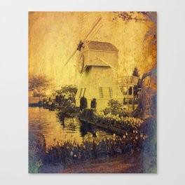 Garden with a Windmill Canvas Print