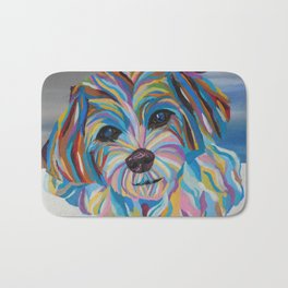 Colorful Shih tzu Painting Bath Mat