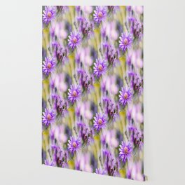 Summer dream - purple flowers - happy and colorful mood Wallpaper