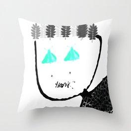 Winter-Spring Face Throw Pillow