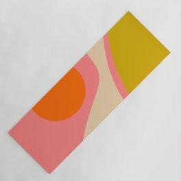abstract composition modern blush pink Yoga Mat