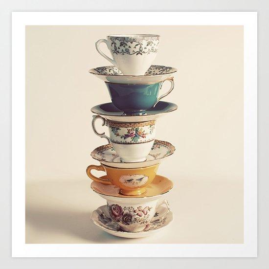 teacups Art Print