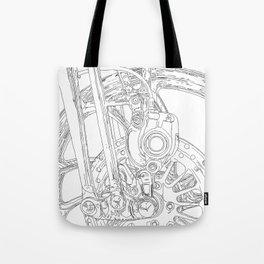 cycle detail, drawing 2 Tote Bag