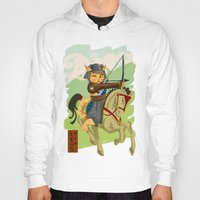 archer Hoodies featuring The Archer by Ginger Breo