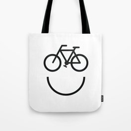 Bike face, bicycle smiley Tote Bag