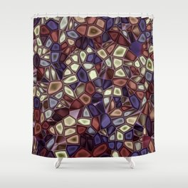 Fractal Gems 01 - Fall Vibrant Shower Curtain