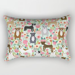Pitbull florals mixed coats pibble gifts dog breed must have pitbulls florals Rectangular Pillow