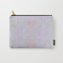 Lavender Garden Floral Carry-All Pouch