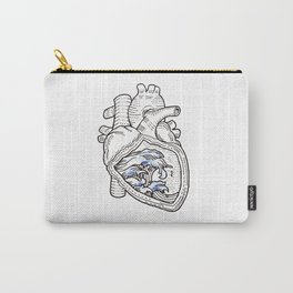 Ocean heart | Retro waves Carry-All Pouch