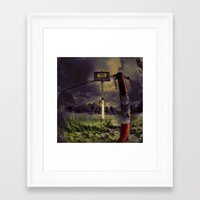 creepy Framed Art Prints featuring Creepy  by kwok art