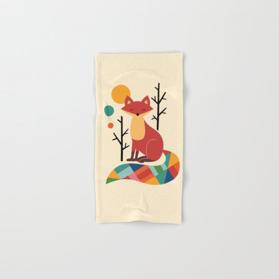 Rainbow Fox Hand & Bath Towel