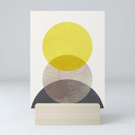 SUN MOON EARTH Mini Art Print
