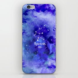 Aquarius Constellation iPhone Skin