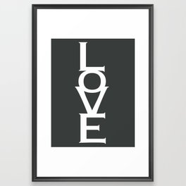 LOVE (gray) Framed Art Print