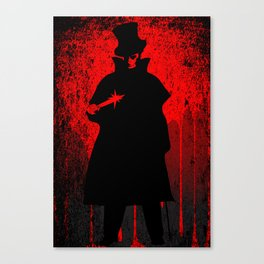 Jack the Ripper Blood Background Canvas Print