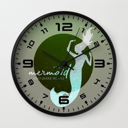 Mermaid #2 Wall Clock
