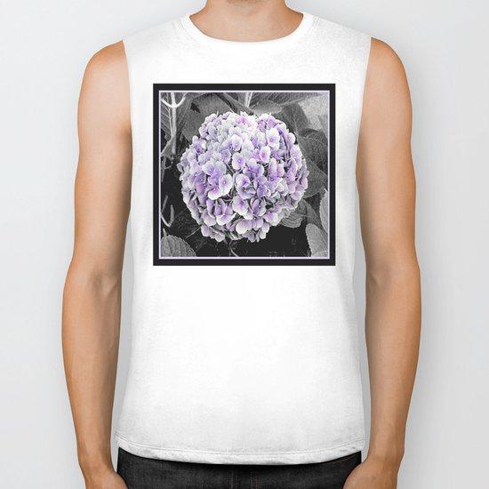 Flower | Flowers | BNW Purple Hydrangea Biker Tank