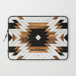 Urban Tribal Pattern 5 - Aztec - Concrete and Wood Laptop Sleeve