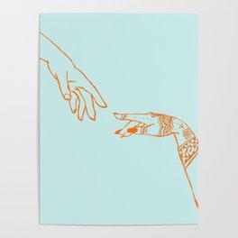 Henna hands Poster