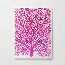 Fan Coral – Pink Ombré Metal Print