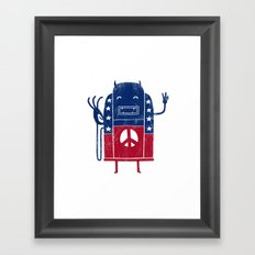Demon-Crazy Framed Art Print