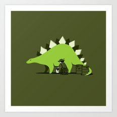 Crude oil comes from dinosaurs Art Print