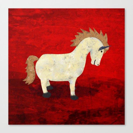 Vintage Pony Design Canvas Print