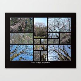 Cherry Don't You Weep No More (Collage) Canvas Print
