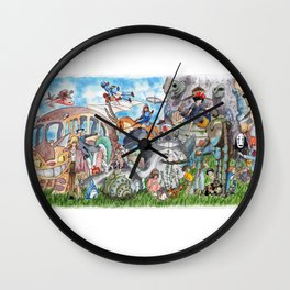 Ghibli Compilation Wall Clock